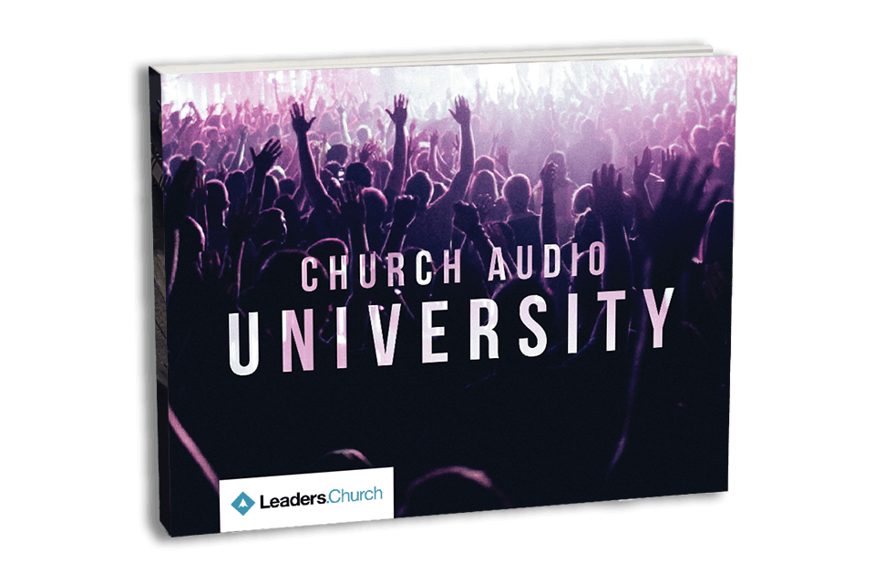 Online course for church audio and live production directors and pastors