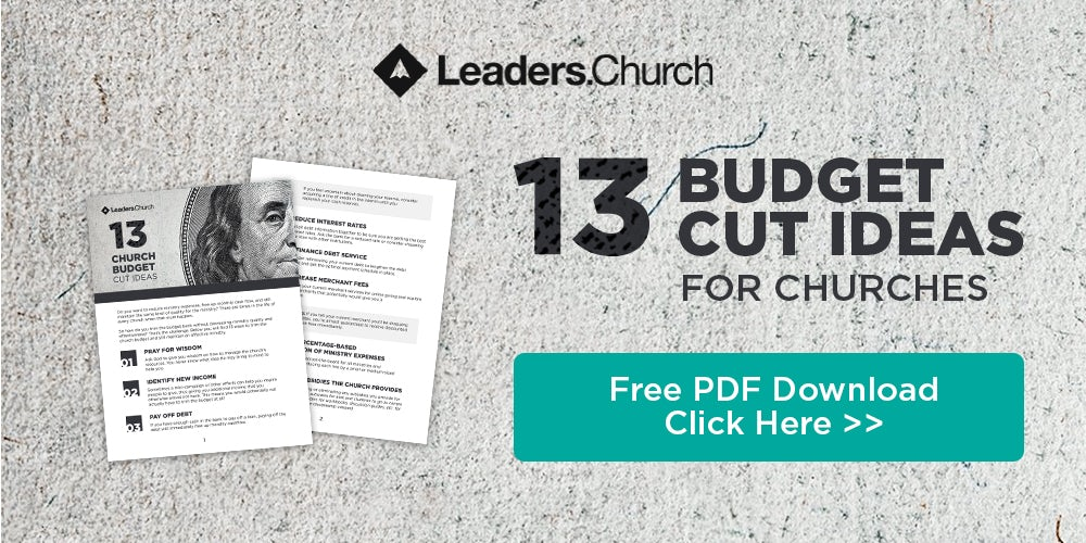 Ideas for pastors to trim the church budget